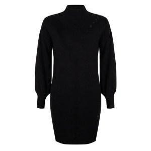 Esqualo dress knitted black