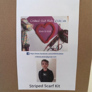 Finger Knitted Striped Scarf Kit