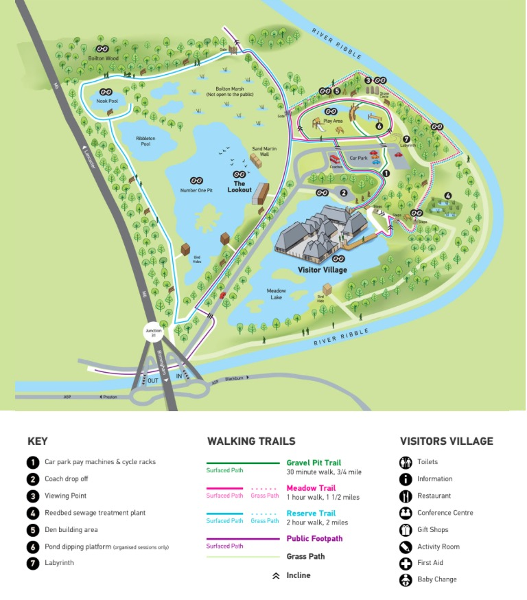 #WalkWithWynsors Brockholes Nature Reserve, map of the reserve