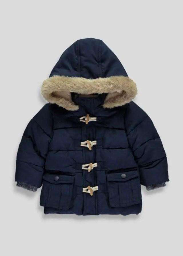 Winter coats navy puffa jacket matalan boys