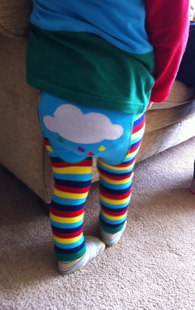 Blade and rose rainbow leggings