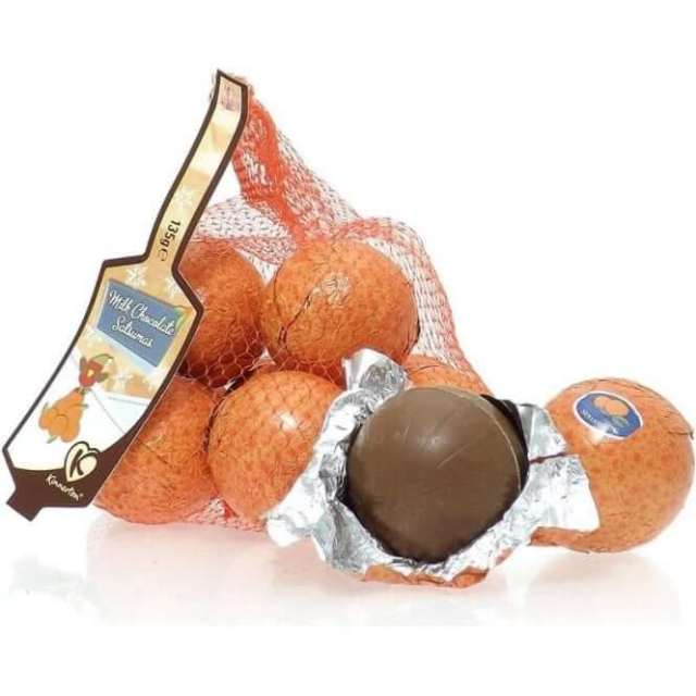 Fairtrade chocolate Co-op Milk Chocolate Satsumas