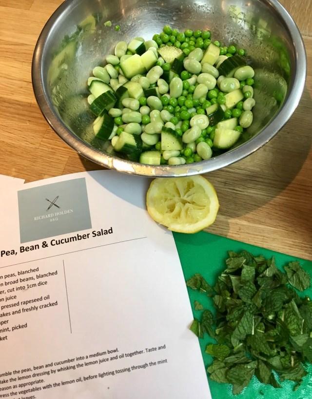 BBQ masterclass a pea, bean and cucumber salad