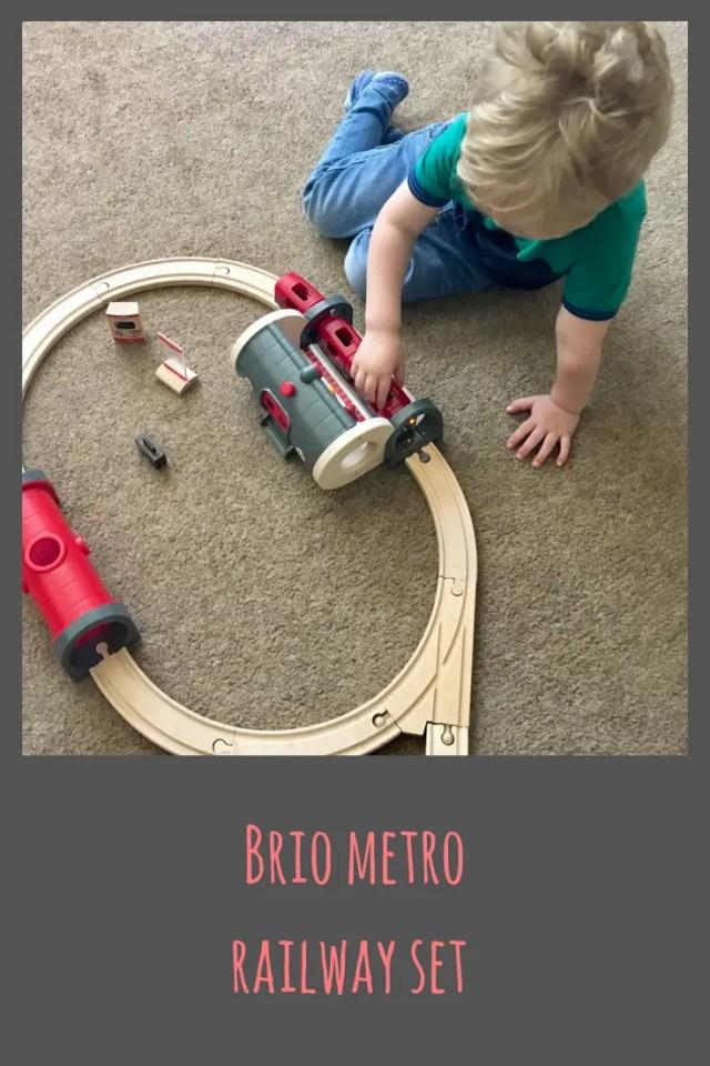 BRIO metro railway set, wooden railway #toys