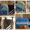 back to school collage of bags