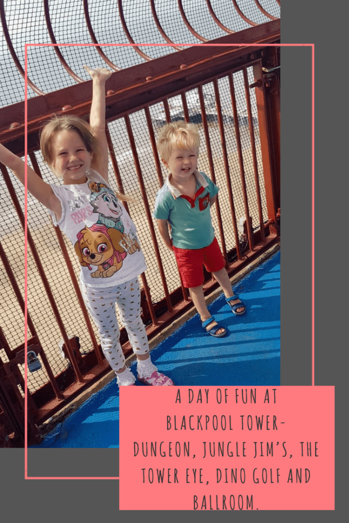 A day of fun at Blackpool Tower- Dungeon, Jungle Jim's, the Tower Eye, Dino Golf and Ballroom. #blackpool #blackpooltower #lancashire