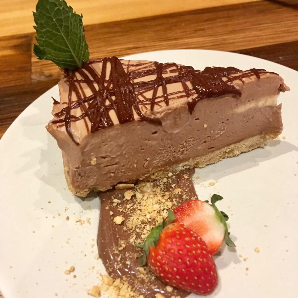 Spitroast, Liverpool review Chocolate cheesecake