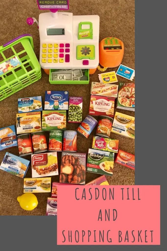 Casdon till and shopping basket #childrenstoys