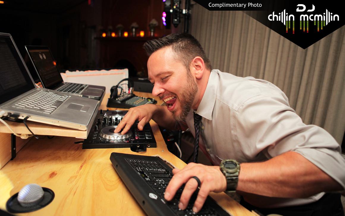 New Hampshire wedding DJ near me chillin mcmillin