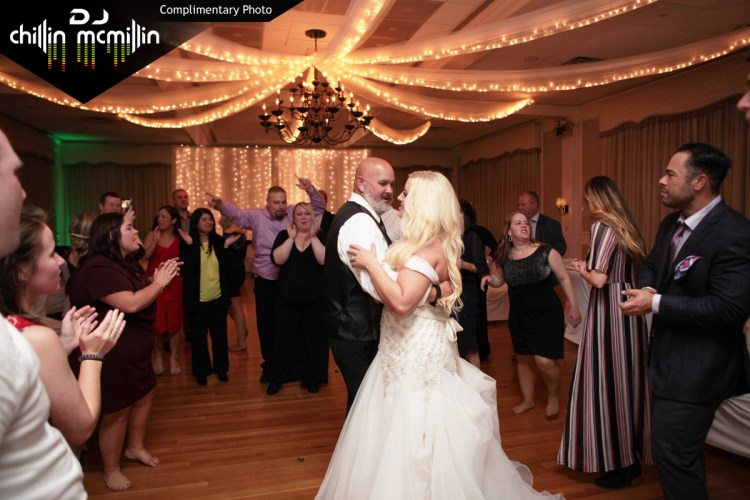 Wedding DJ at the Nashua Country Club Nashua New Hampshire with DJ Chillin McMillin