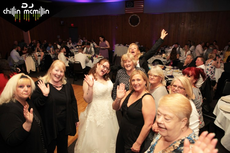 Bride with guests DJ Chillin McMillin