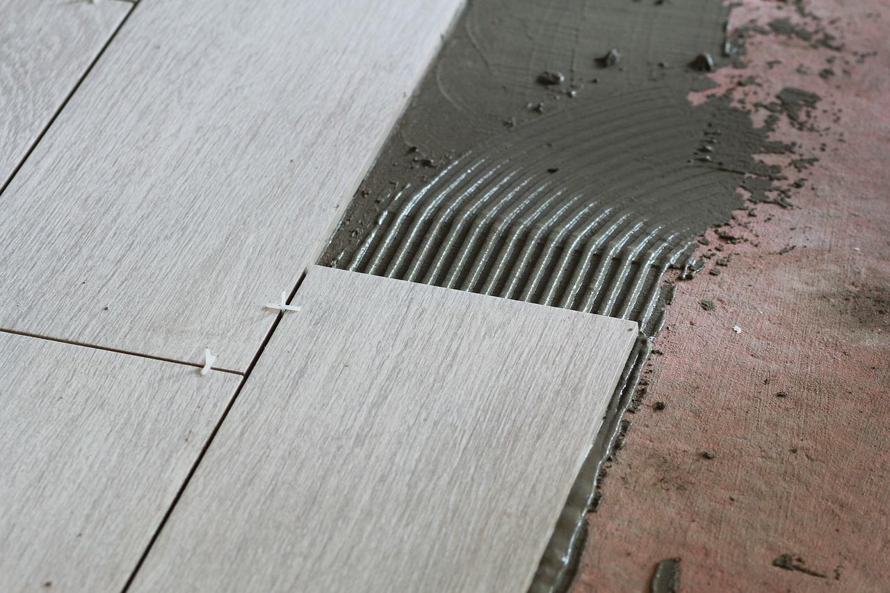 floor heating installation unmodified