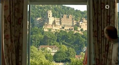 Ein Blick aus dem Fenster auf das Heidelberger Schloss