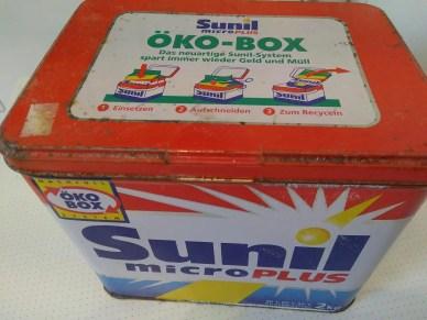 Verpackungsfreie Waschpulverbox für 2 KG Waschpulver