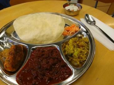 Leckere indische Speise, vegetarisch.