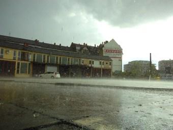 Zum Abschluss gab es einen Gewitterschauer mit Platzschregen.