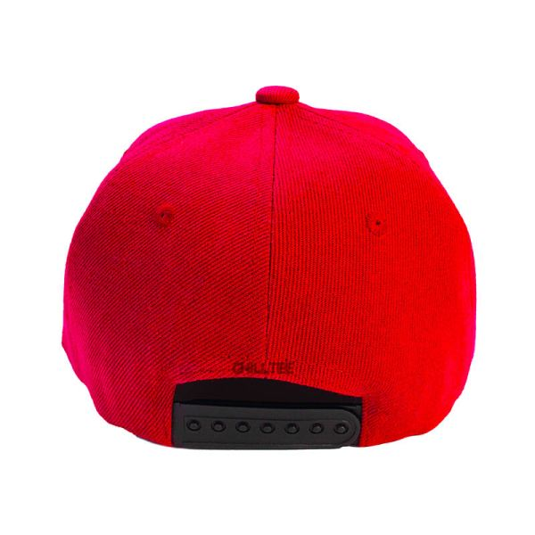 Custom and Embroider your Red Kids Cap Back View