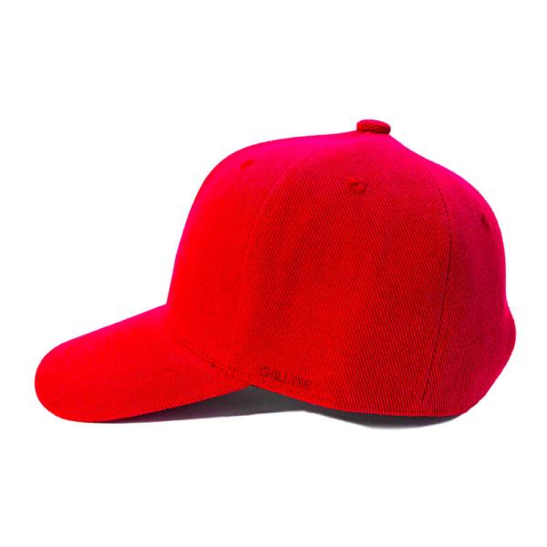 Custom and Embroider your Red Kids Cap Left View