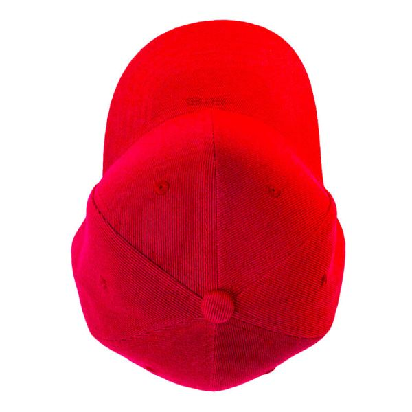 Custom and Embroider your Red Kids Cap Top View