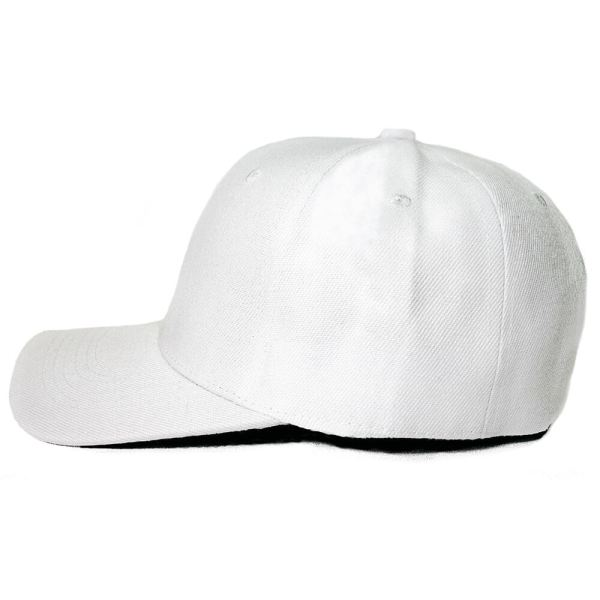 Custom and Embroider your White Cap Left View