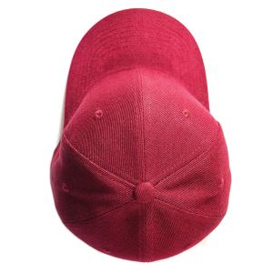 Custom and embroider your Wine Red Cap Top View
