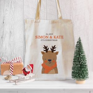 Deer Christmas Canvas Tote-bag Freesize, Custom our iTee template and make it yours. Product View
