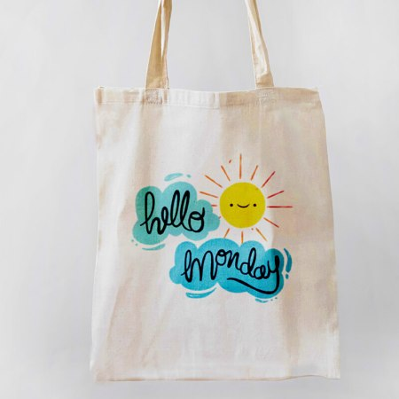 Hello Monday Tote-bag
