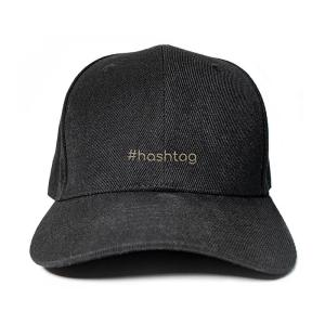 #hashtag in Black Embroidered Cap, Custom our iTee template and make it yours. Product View