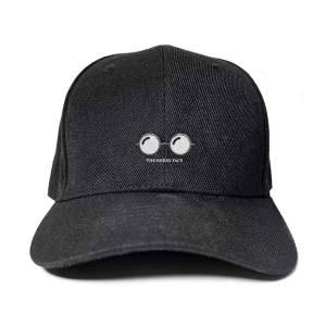 Nerdy Face in Black Embroidered Cap, Custom our iTee template and make it yours. Product View