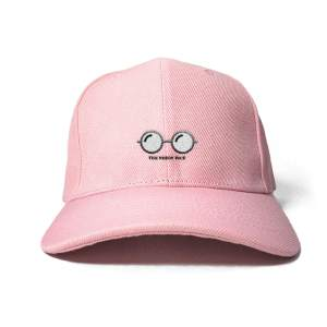 Nerdy Face in Baby Pink Embroidered Cap, Custom our iTee template and make it yours. Product View