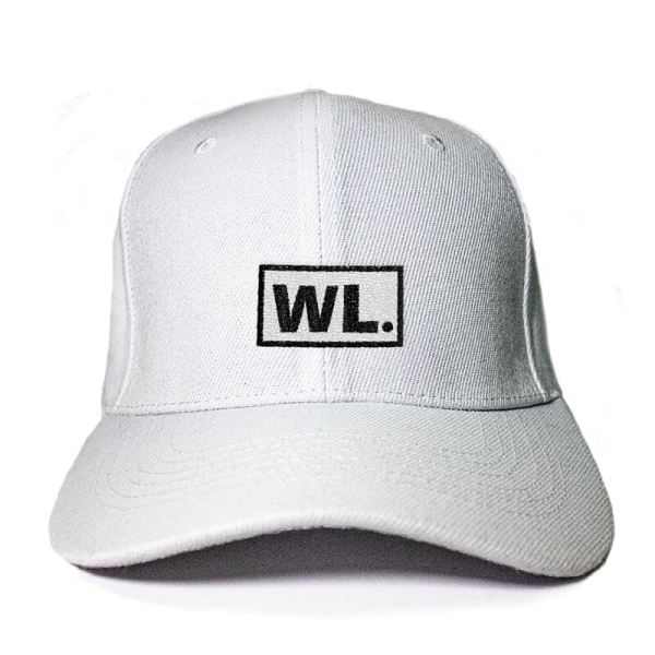 Initial Block in White Embroidered Cap, Custom our iTee template and make it yours. Product View