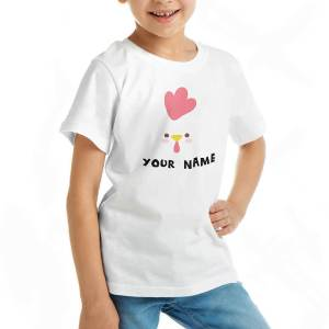 Custom your Cluck Cluck Chicken White T-shirt Template, Girl Model View