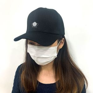 I Save Myself with N95 mask in Black Embroidered Cap, Custom our iTee template and make it yours. Model View