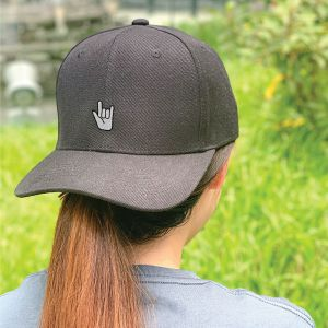 Let's Rock and Roll in Black Embroidered Cap, Custom our iTee template and make it yours. Model View