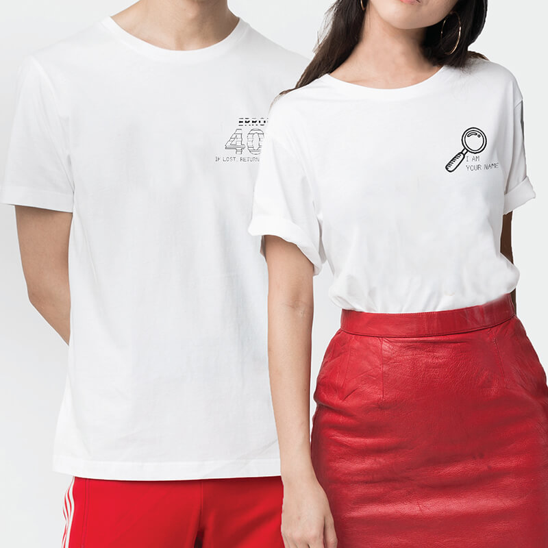 404 & Found Couple T-shirt (2pcs)