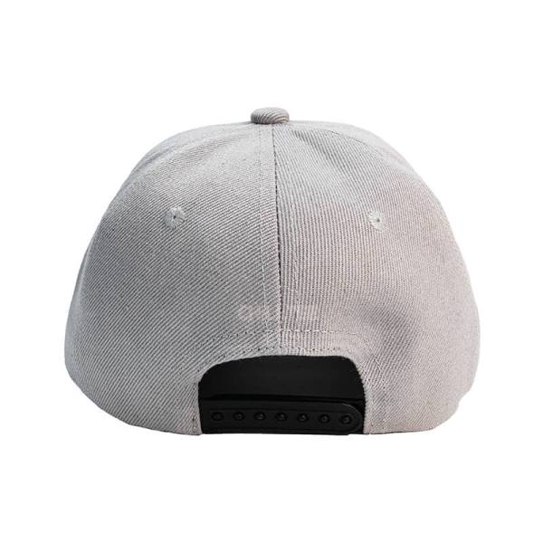 Custom and Embroider your Grey Kids Cap Back View