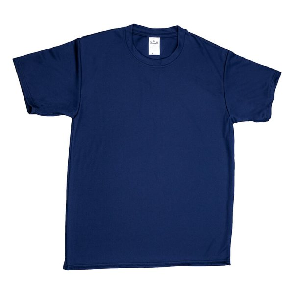 Unisex Navy Mesh T-shirt Front View