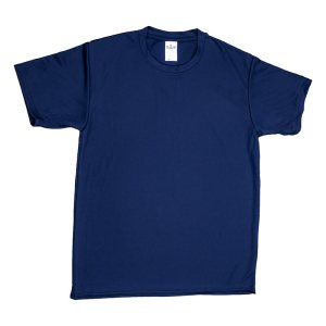 Unisex Navy Mesh T-shirt Front View