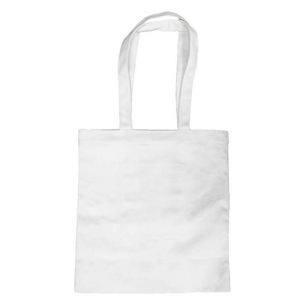 Custom your White Long Strap Tote-bag, Front View