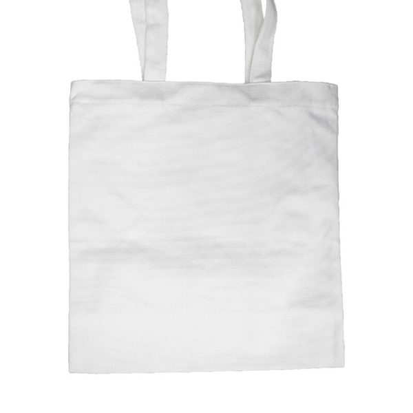 Custom your White Long Strap Tote-bag Zoom, Back View