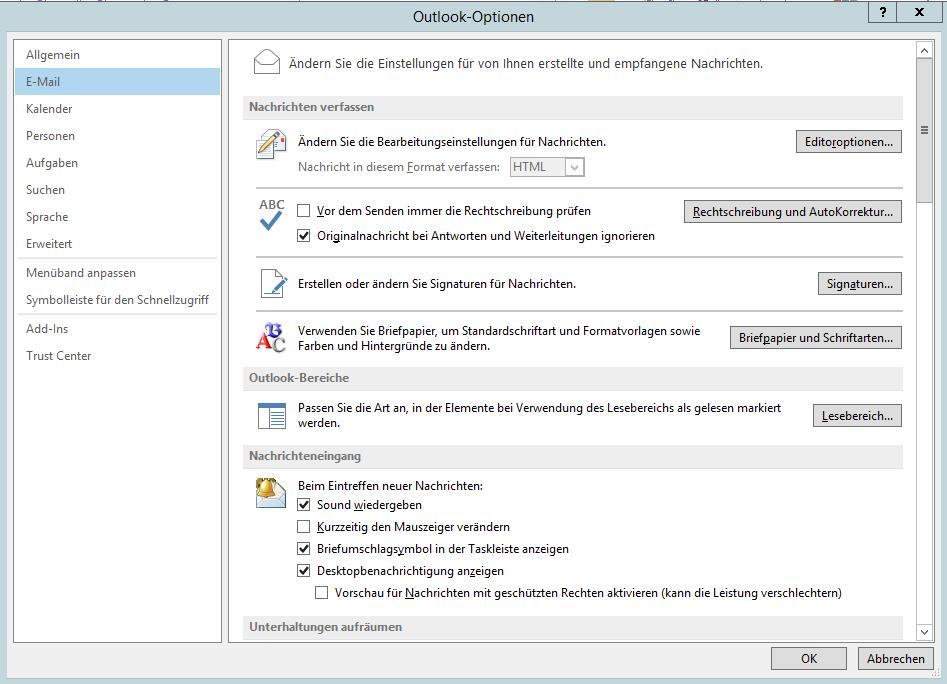 Outlook 2013 Gruppenrichtlinie Für Standard Schriftartgrößefarbe