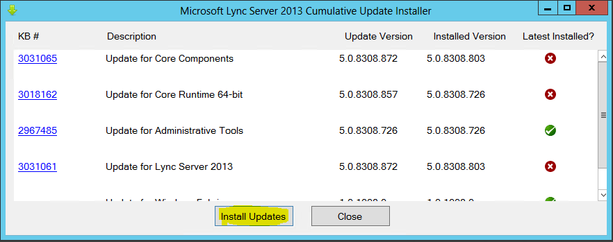 Lync Comulative Update 0