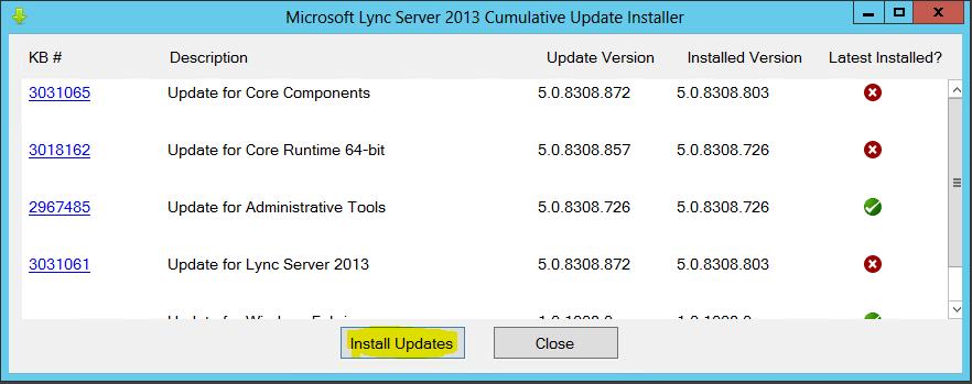 Lync Comulative Update 0