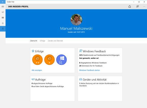 Windows 10 Insider Hub 6