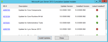 Lync Server 2013 Cumulative Update 1