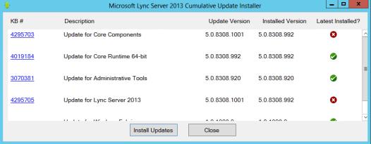 Lync Server 2013 Cumulative Update 1