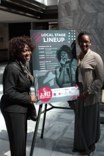 Local Stage Lineup Poster w/Chandra Currelley and fan with