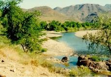 'La Junta' en temporada seca. Confluencia del Río Mayo y del Arroyo Guajaray