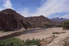 La Junta, río Mayo, Mesa colorada