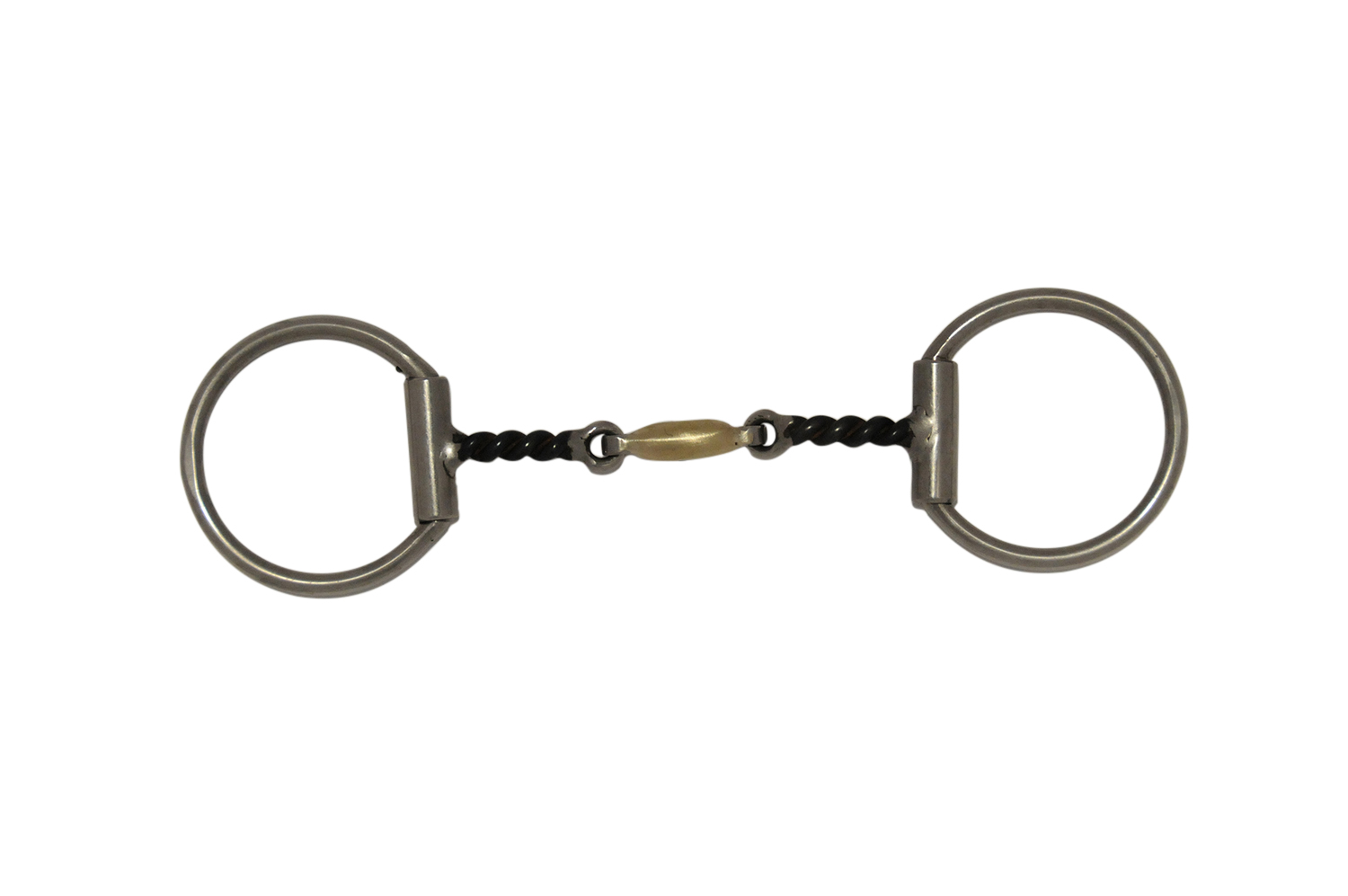 3 Piece Twisted Bar Snaffle Western Bit